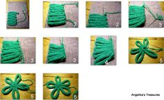 French knitting how to flower
