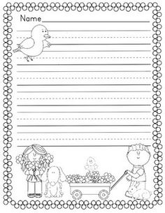 spring themed writing paper Dltk's free printable writing paper templates dltk-kids search choose form a variety of themes and line types to create custom writing paper spring.