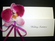 Bedazzle Cards Orchid Invitation