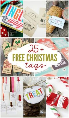 25+ Free Christmas Tags to download, print and use this Christmas season. { lilluna.com } #christmas #tags