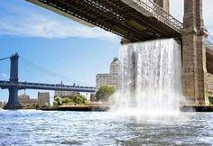 Cataratas en la Ciudad de Nueva York. Pues existen 4 en esta misma ciudad.