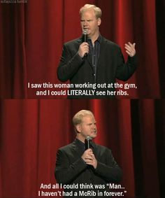 Jim Gaffigan being Jim Gaffigan