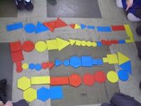 Maths Page: Logic Attribute Block Dominoes