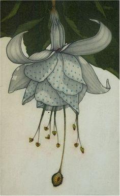iamjapanese:      Michel Estebe (French, b.1954)  Fuchsia 2004  Color mezzotint