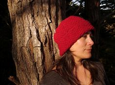 Market Day Hat by Wei S. Leong - free knitting pattern to make a textured chevron-stitch hat with Stansborough Mythral yarn!