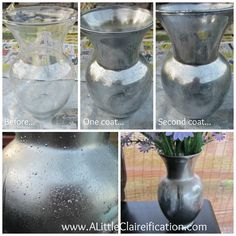 DIY Mercury Glass with ALittleClaireific... #DIY #MercuryGlass