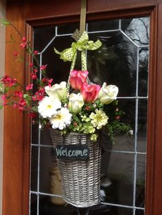 Pretty floral welcome.