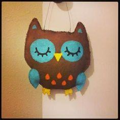 Owl burlap door hanger | crafts