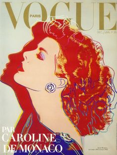 vogue paris, december 1983 / designed by andy warhol