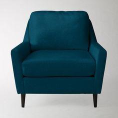 Everett Chair, Performance Velvet, Lagoon