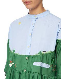 Green Cotton Mila Shirt Dress | Vivetta | Avenue32