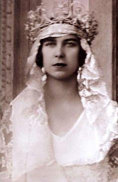 Prinzessin Marie Jose von Belgien als Braut, future Queen of Italy as bride