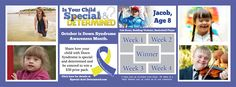 """It's time to celebrate Down Syndrome Awareness Month. Come join in our campaign! Share with us your child with Down Syndrome who is """"Special & Determined"""". They may win a chance to be entered into our $50 grand prize. #specialanddetermined"""
