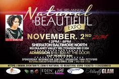 Natural Is Beautiful Expo  Read the article here - http://www.blackhairinformation.com/general-articles/events-general-articles/natural-beautiful-expo/