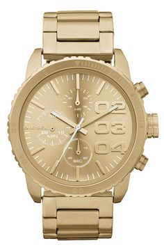 DIESEL® Round Chronograph Bracelet Watch available at Nordstrom