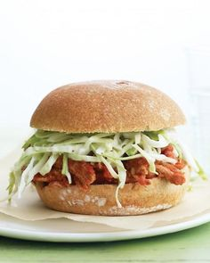 Lighter Pulled Pork Sandwiches Recipe. Perfect for Summer.
