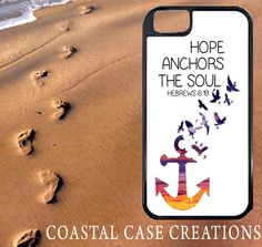 Hope Anchors The Soul Beach Quote iPhone Case by CoastalCaseCreations, $26.00