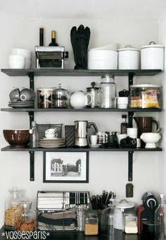 #kitchen, open shelves