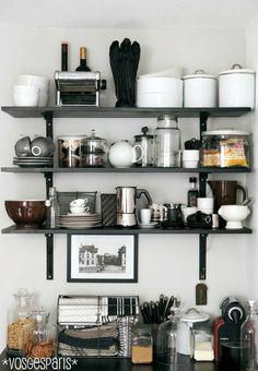#kitchen, open shelves
