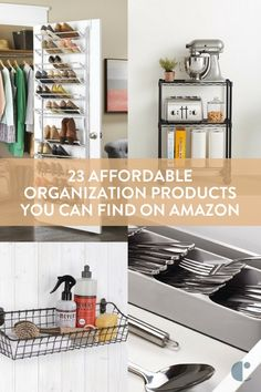 Organization products to help you de-clutter your home. We've rounded up our top Amazon picks at at a low price point for affordable home organization.