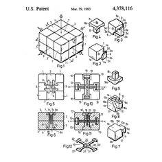 The original Rubik's Cube patent