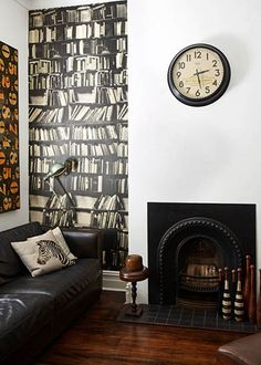 Accenting walls with wallpaper instead of paint.
