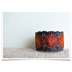 wool felt cuff bracelet