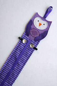 owl hairclip holder