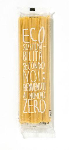 Zero Food Miles Spaghetti   Eco Sustainable packaging by Garofalo packaging #foodpackaging