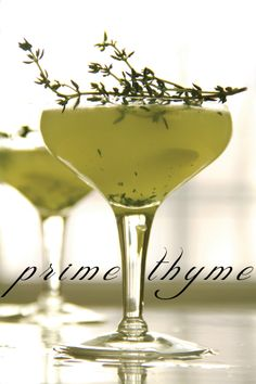Prime Thyme Cocktail for the