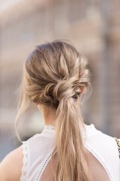 Simple wedding hair inspiration // via They All Hate Us