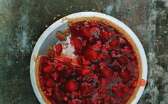 Fresh Strawberry Pie with Whipped Cream: 2000s Recipes + Menus : gourmet.com