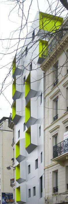 DPU Social Housing in Paris 18 by X-TU Architects