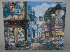 PBN Paint by Numbers Paris Street Scene at Twilight Completed Work | eBay
