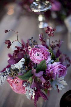 Plum color bouquet