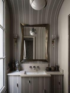 striped bath of Jean-Louis Deniot in Paris