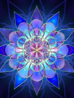 kaleidoscop, color, blue, art, beauti, stain glass, fractal, stained glass, mandala