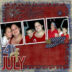 Fourth of July, digital layout by mkcdaisy