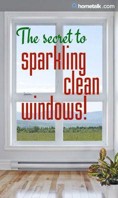 The secret to sparkling clean windows!