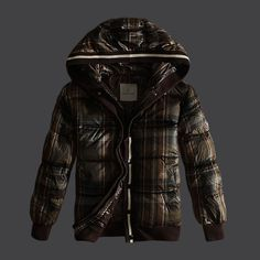 I just like this Buy Brown Moncler Grid Down Jacket for Men