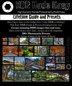 HDR Photography Made Easy lifetime guide and 240+ Photomatix Presets! (FREE updates for life and affiliate program available too!)