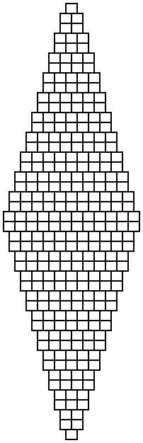 2 bead brick stitch diamond graph paper