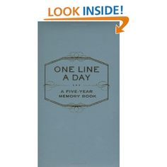 One Line a Day: A Five-Year Memory Book: Chronicle Books Staff: 9780811870191: Amazon.com: Books