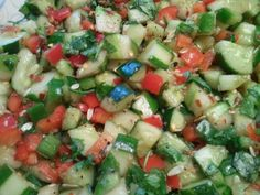Spicy Szechuan cucumber salad that I learned from my mom.  It's a little sweet, a little spicy, and always refreshing.