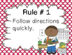 2nd, teach rule, whole brain teaching, polka dots, school