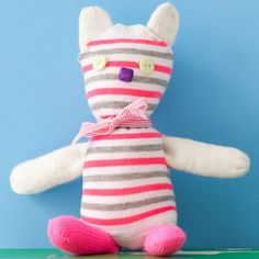 Rainy day? Keep kids busy with this Sock Toy Craft that they'll enjoy long after they're done crafting it.