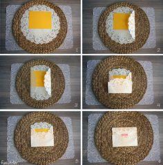 DIY: Sobres con blonda de papel