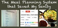 The meal planning system that saved my sanity