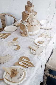 Table setting paper party entertainment ♥