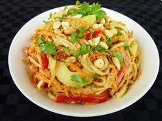 vegan: ginger peanut noodles...